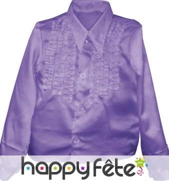 Chemise enfant à super ruches violette
