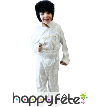 Costume elvis blanc enfant