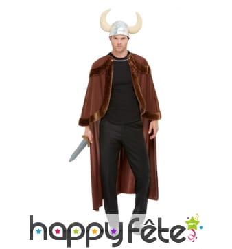 Cape et casque de viking pour adulte