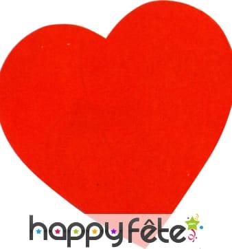 Coeur en carton rouge