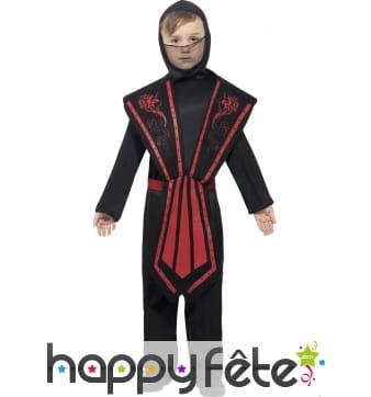 Costume enfant de ninja noir
