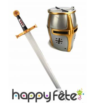 Casque et épée de chevalier pour enfant