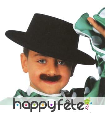 Chapeau espagnol enfant noir