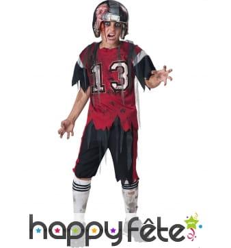Costume enfant footballeur américain zombie