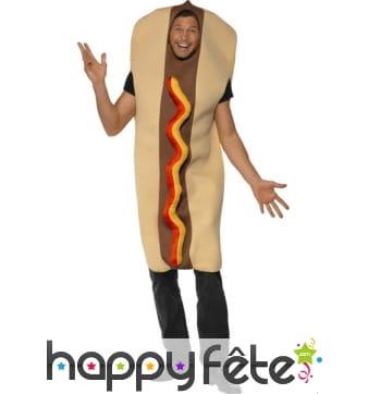 Costume en hot dog géant