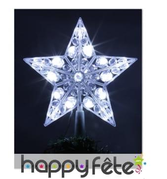 Cimier étoile lumineuse led pour extérieur