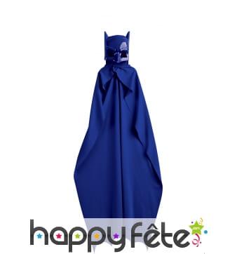 Cape et masque Batman bleu pour enfant