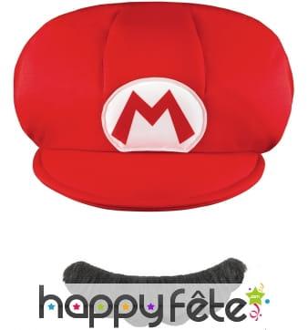Casquette et Moustache de Mario pour enfant