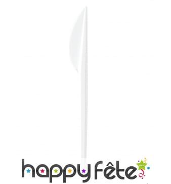 Couteaux en plastique blanc de 16.5cm