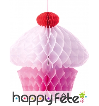 Cupcake en papier alvéolé de 20cm