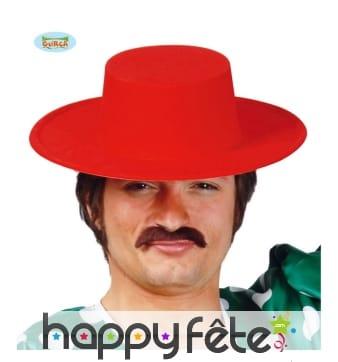 Chapeau espagnol rouge uni