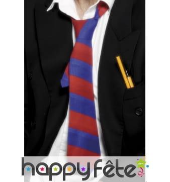 Cravate écolier rouge bleue