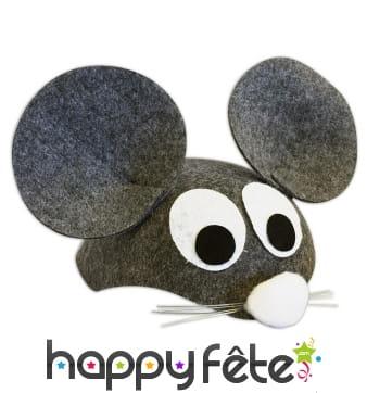 Coiffe en souris grise