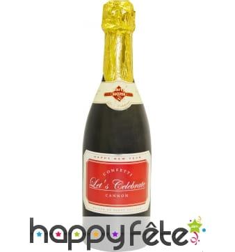 Confettis et serpentins en bouteille de champagne