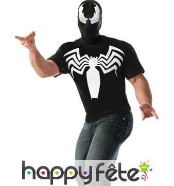 Cagoule et T-shirt de Venom pour homme, Spiderman