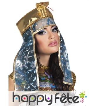 Coiffe égyptienne tête de serpent