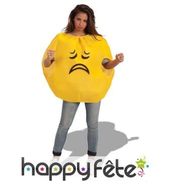Costume émoticône triste pour adulte