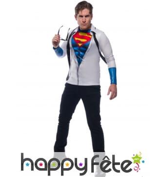 Cravate et T-shirt de Superman pour homme
