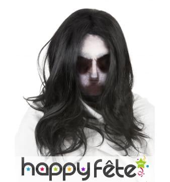 Cagoule fantôme avec cheveux