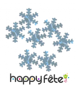 Confettis flocons argentés