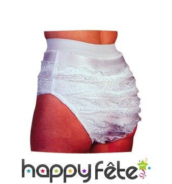 Culotte froufrou blanche