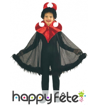 Costume fée diabolique pour enfant