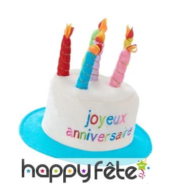 Chapeau gâteau d'anniversaire taille adulte