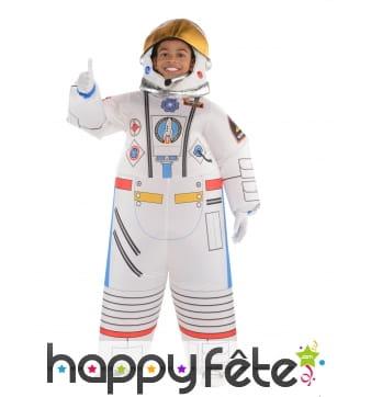 Combinaison gonflable d'astronaute pour enfant