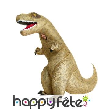 Combinaison gonflable de T-rex pour adulte