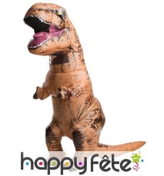 Costume gonflable de Tyrannosaure pour adulte