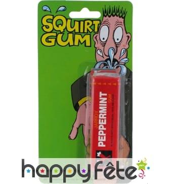Chewing-gum jet d'eau