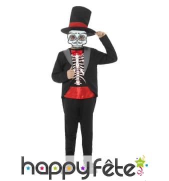 Costume gentleman jour des morts pour enfant