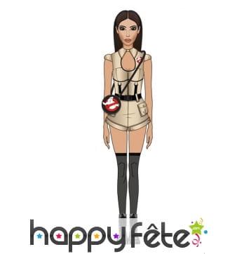 Costume Ghostbusters mini-short pour femme