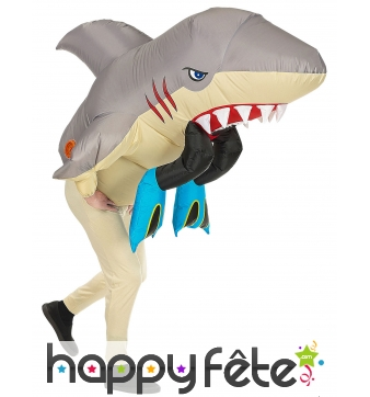 Costume gonflable mangé par un requin, adulte