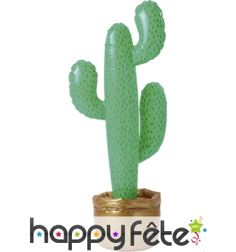Cactus gonflable vert