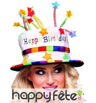 Chapeau happy birthday pour adulte