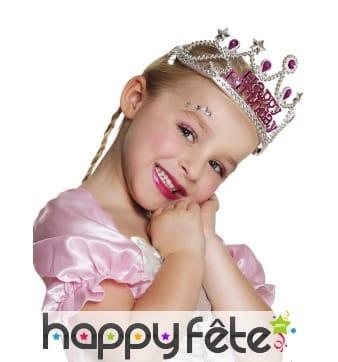 Couronne Happy Birthday pour enfant