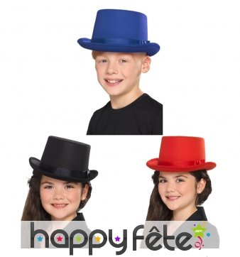 Chapeau haut de forme uni pour enfant