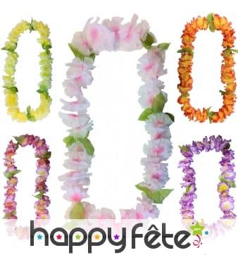 Collier hawaïen de fleurs