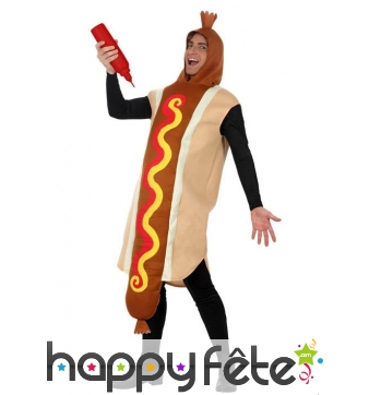 Costume hot dog pour adulte