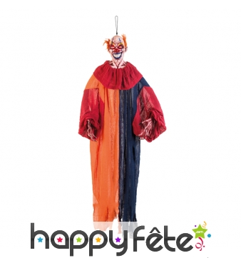 Clown horrible et lumineux à suspendre, 165cm