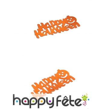 Confettis Happy Halloween de 5 x 2 cm