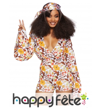 Combishort hippie pour femme, luxe