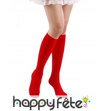 Chaussettes hautes rouges