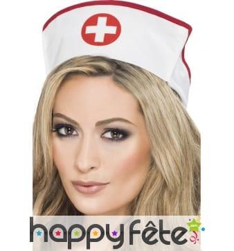 Coiffe infirmière blanche