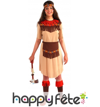 Costume indienne longue fleche