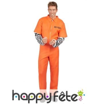 Combinaison immatriculée orange de prisonnier