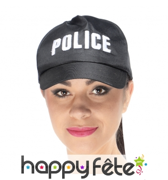 Casquette imprimé police