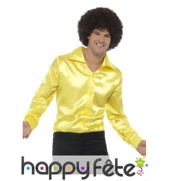 Chemise jaune années 60 pour homme