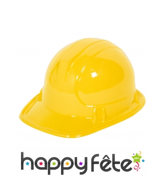Casque jaune d'ouvrier pour enfant